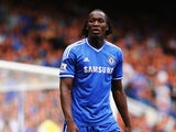 Romelu Lukaku of Chelsea looks on during the Barclays Premier League match between Chelsea and Hull City at Stamford Bridge on August 18, 2013