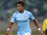 Scott Sinclair of Manchester City during the Nelson Mandela Football Invitational match between AmaZulu and Manchester City at Moses Mabhida Stadium on July 18, 2013