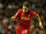 Liverpool's Sebastian Coates in action against Swansea on October 31, 2012