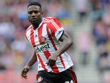 Stephane Sessegnon of Sunderland in action during the Barclays Premier League match between Sunderland and Fulham at the Stadium of Light on August 17, 2013