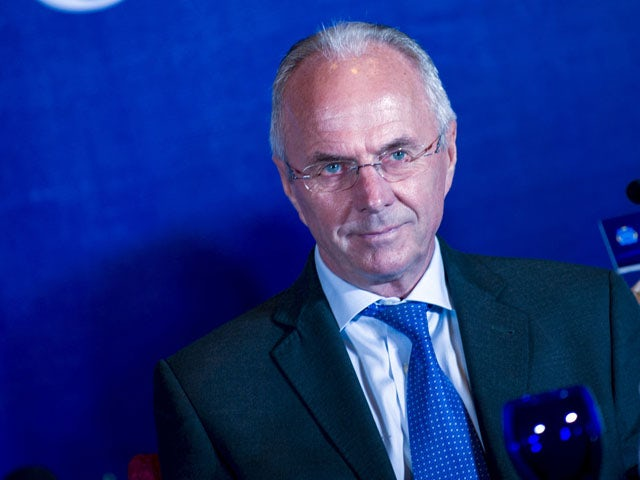 Sweden coach Sven-Goran Eriksson attends a press conference held by Guangzhou R&F football club in Guangzhou, south China's Guangdong province on June 17, 2013.