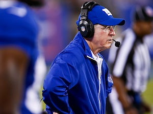 New York Giants head coach Tom Coughlin on the sidelines during his team's pre-season match against Indianapolis Colts on August 18, 2013