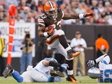 Browns RB Trent Richardson makes a play against the Lions on August 15, 2013