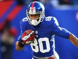New York Giants' Victor Cruz in action against Philadelphia Eagles on December 30, 2013