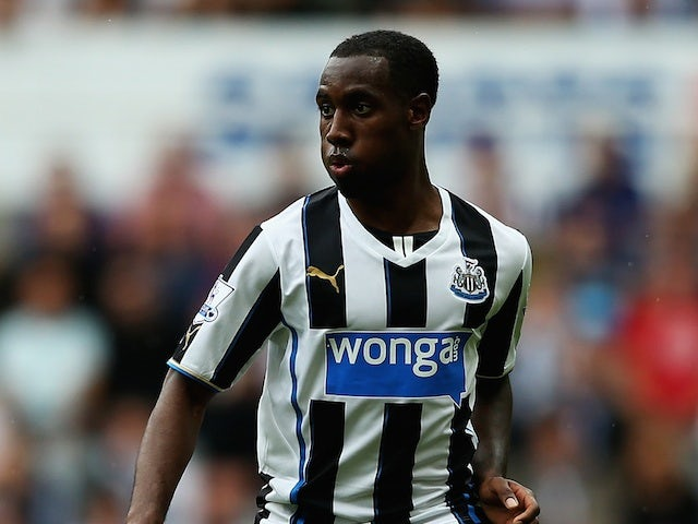 Newcastle's Vurnon Anita in action against West Ham on August 24, 2013