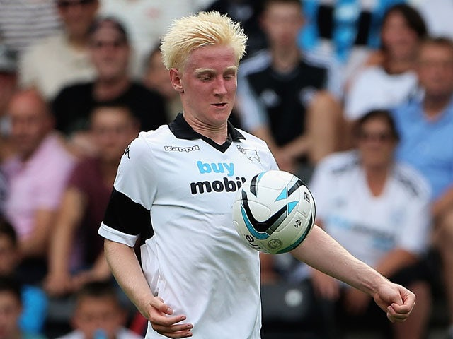 Will Hughes of Derby County in action during the Pre Season Friendly match between Derby County and West Bromwich Albion at Pride Park Stadium on July 27, 2013