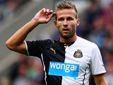 Newcastle midfielder Yohan Cabaye in action against Braga on August 10, 2013