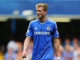 Andre Schurrle of Chelsea looks on during the Barclays Premier League match between Chelsea and Hull City at Stamford Bridge on August 18, 2013