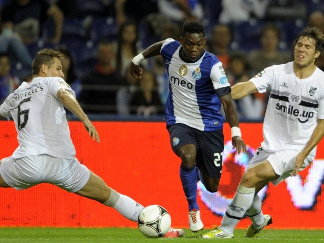 Porto winger Christian Atsu in action against Vitoria SC.