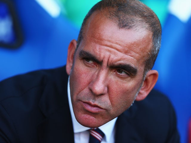Sunderland manager Paolo Di Canio looks on during the Barclays Premier League match between Crystal Palace and Sunderland at Selhurst Park on August 31, 2013