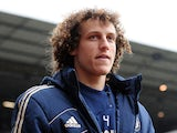 David Luiz of Chelsea looks on ahead of the Barclays Premier League match between Aston Villa and Chelsea at Villa Park on May 11, 2013