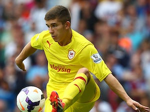 Cardiff's Declan John in action during the match against West Ham on August 17, 2013