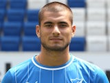 Eren Derdiyok at the Hoffenheim photocall on July 10, 2012