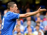 Chelsea's Spanish forward Fernando Torres gestures during the English Premier League football match between Chelsea and Hull City at Stamford Bridge in London on August 18, 2013