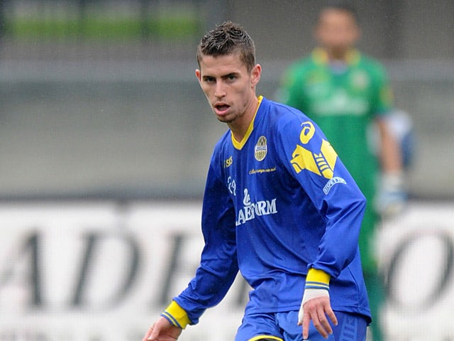 Hellas Verona's Jorginho in action during the match against Virtus Lanciano on October 27, 2012