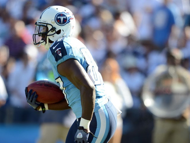 Lavelle Hawkins #87 of the Tennessee Titans returns a kick during the game against the San Diego Chargers at Qualcomm Stadium on September 16, 2012