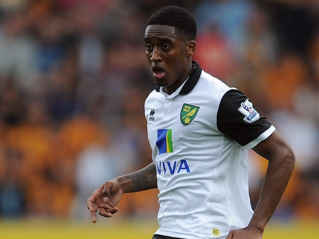 Norwich midfielder Leroy Fer in action against Hull on August 24, 2013