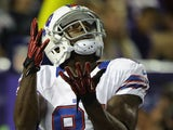 Marcus Easley #81 of the Buffalo Bills returns a punt during the game against the Minnesota Vikings on August 17, 2012