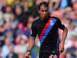 Crystal Palace's Marouane Chamakh in action during the match against Stoke on August 24, 2013
