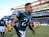 Nnamdi Asomugha #24 of the Philadelphia Eagles leaves the field after the Eagles lost to the Washington Redskins 27-20 at Lincoln Financial Field on December 23, 2012