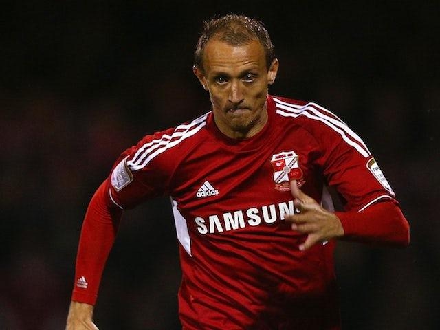 Paul Benson in action for Swindon against Aston Villa on October 30, 2012