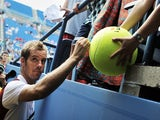 Richard Gasquet leaves the court following a win at the US Open on August 26, 2013