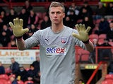 Brentford's Simon Moore in action during the match against Preston on March 16, 2013