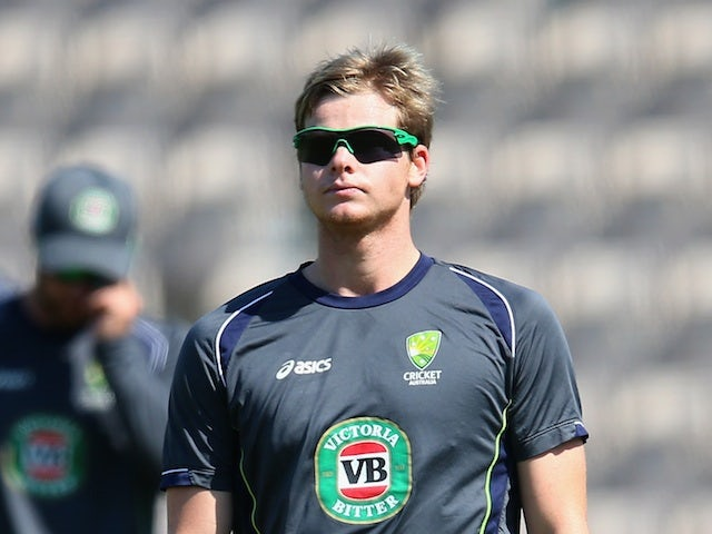Australia's Steve Smith during a nets session on August 28, 2013
