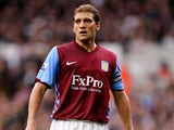 Stiliyan Petrov of Aston Vliia in action during the Barclays Premier League match between Tottenham Hotspur and Aston Villa at White Hart Lane on October 2, 2010
