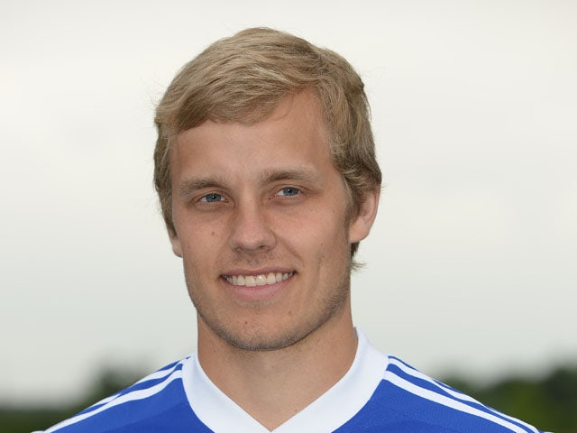 Schalke's Finnish forward Teemu Pukki poses during a team photo call of German first division Bundesliga football club FC Schalke 04, on July 10, 2013