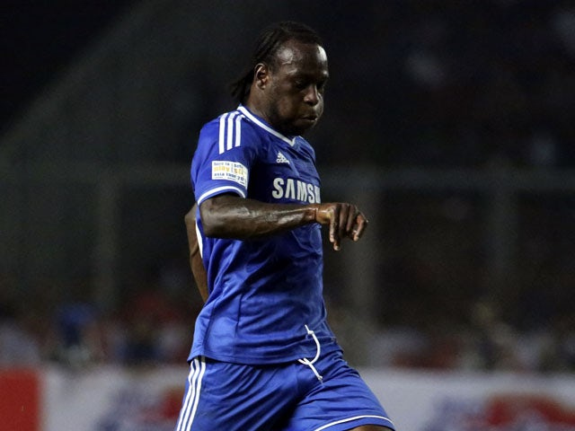 Victor Moses of Chelsea in action during the match between Chelsea and Indonesia All-Stars at Gelora Bung Karno Stadium on July 25, 2013