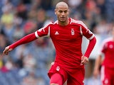 Adlene Guedioura of Nottingham Forest in action during the Sky Bet Championship match between Blackburn Rovers and Nottingham Forest at Ewood Park on August 10, 2013