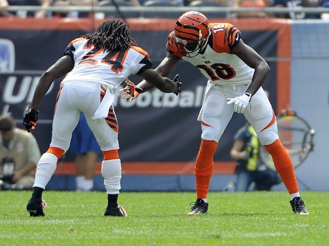 Bengals WR AJ Green celebrates a touchdown against Chicago on September 8, 2013