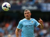 Aleksandar Kolarov of Manchester City during the Barclays Premier League match between Manchester City and Hull City at the Etihad Stadium on August 31, 2013