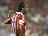 Cameron Jerome #33 of Stoke City looks on against FC Dallas on July 27, 2013