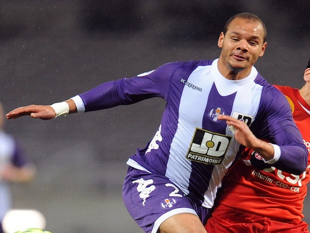 Toulouse's Daniel Braaten in action against Nancy on January 19, 2013