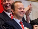Ed Woodward prepare to ring the Opening Bell at the New York Stock Exchange on August 10, 2012