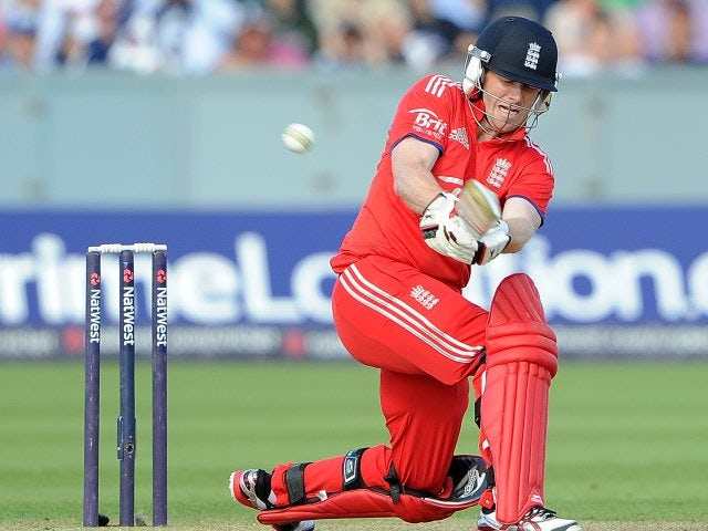 Eoin Morgan in action for England against Australia.