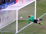 Frank Lampard's shot which beats Manuel Neuer at the 2010 World Cup, but a goal is not awarded.