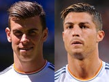 Real Madrid players Gareth Bale and Cristiano Ronaldo