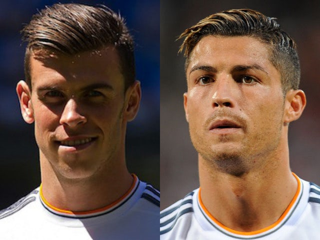 Real Madrid players Gareth Bale and Cristiano Ronaldo