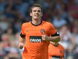 Gavin Gunning of Dundee United during the SPL match from Tannadice Park Dundee on August 19, 2012