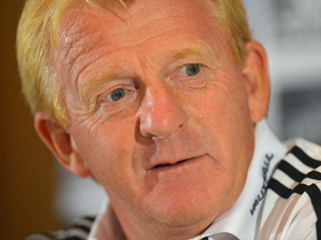 Scotland manager Gordon Strachan faces the media during a press conference at Sopwell House on August 13, 2013