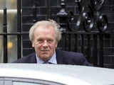 Gordon Taylor arrives for a meeting to discuss racism in football at 10 Downing Street on February 22, 2012