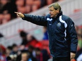 Graham Turner, manager of Shrewsbury Town gives out instructions during the FA Cup Third Round match between Middlesbrough and Shrewsbury Town at Riverside Stadium on January 7, 2012