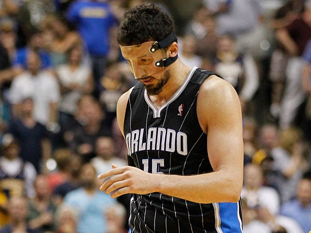 Orlando Magic's Hedo Turkoglu in action against Indiana Pacers on May 8, 2012