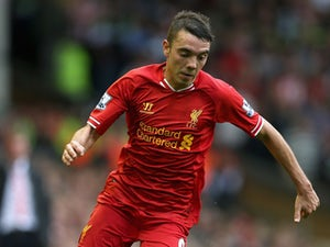 Iago Aspas of Liverpool in action during the Barclays Premier League match between Liverpool and Stoke City at Anfield on August 17, 2013