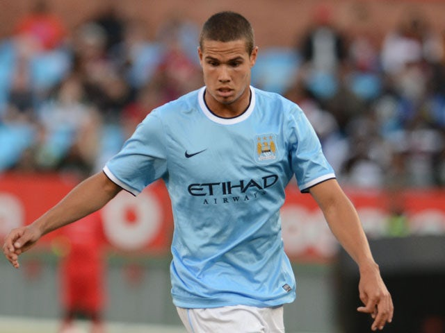 Jack Rodwell of Manchester City during the Nelson Mandela Football Invitational match between SuperSport United and Manchester City from Loftus Versfeld on July 14, 2013