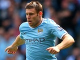 City midfielder James Milner in action against Hull on August 31, 2013