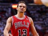 Bulls' Joakim Noah in action against Miami Heat on May 15, 2013
